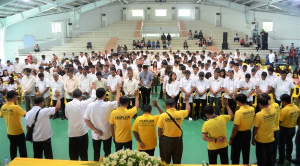 NEWLY-ELECTED BARANGAY OFFICIALS TAKE OATH
