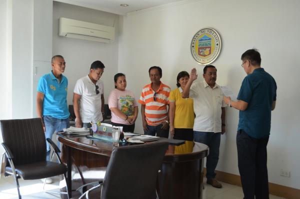 Oath taking of new barangay captain of puelay stopboris Images